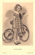 act220007 - Child Movie Star Shirley Temple Post Card Old Vintage Antique