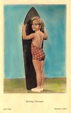 act220115 - Child Movie Star Shirley Temple Post Card Old Vintage Antique