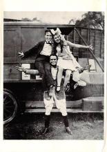 act500235 - Charlie Chaplin, Mary Pickford & Douglas Fairbanks Movie Poster Postcard