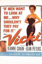 act500327 - Vicki Movie Poster Postcard