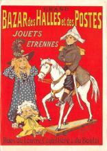 act500377 - Grand Bazar des Halles et des Postes Advertising Poster Postcard
