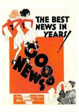 act500383 - Good News,  The Best News in Years! Movie Poster Postcard
