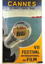 act500419 - Cannes VII Festival International Du Film Movie Poster Postcard