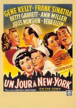 act500519 - Un Jour a New York, Gene Kelly, Franks Sinatra Movie Poster Postcard