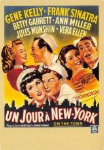 act500521 - Un Jour a New York, Gene Kelly, Franks Sinatra Movie Poster Postcard