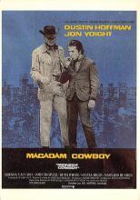 act500541 - Midnight Cowboy, Dustin Hoffman, Jon Voight Movie Poster Postcard
