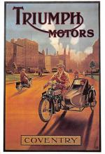 act500561 - Triumph Motors, Coventry Advertising Poster Postcard