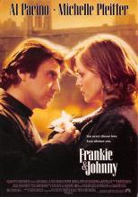 act500571 - Frankie & Johnny, Al Pacino, Michelle Pfeiffer Movie Poster Postcard