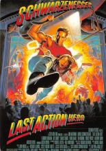 act500611 - Last Action Hero, Schwarzenegger Movie Poster Postcard