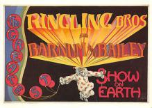 act500771 - Ringling Bros & Barnum and Bailey Advertising Poster Postcard
