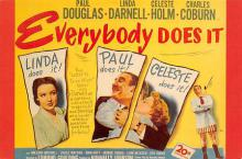 act500835 - Everybody Does It Movie Poster Postcard