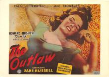 act500843 - The Outlaw Movie Poster Postcard