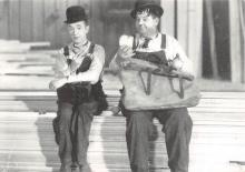 act520001 - Laurel and Hardy Movie Poster Postcard