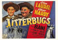 act520017 - Laurel and Hardy Movie Poster Postcard