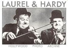 act520077 - Laurel and Hardy Movie Poster Postcard