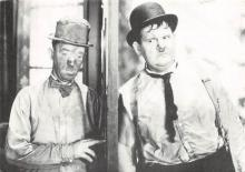 act520081 - Laurel and Hardy Movie Poster Postcard