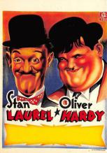 act520097 - Laurel and Hardy Movie Poster Postcard