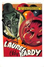 act520125 - Laurel and Hardy Movie Poster Postcard