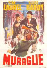 act520141 - Laurel and Hardy Movie Poster Postcard