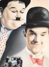 act520153 - Laurel and Hardy Movie Poster Postcard