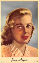 act_001004 - June Allyson Post Card Movie Film Star Postcard