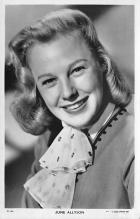 act_001013 - June Allyson Postcard, Post Card Movie Film Star Postcard