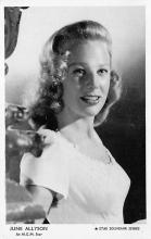 act_001020 - June Allyson Actor / Actress Misc. Movie Star Hollywood Postcard