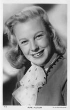 act_001025 - June Allyson Postcard Actress, Movie Star Post Card