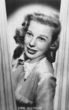 act_001034 - June Allyson Postcard Actress, Movie Star Post Card
