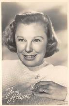 act_001036 - June Allyson Postcard Actress, Movie Star Post Card