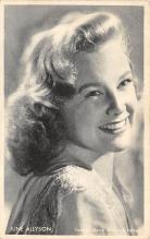 act_001042 - June Allyson Post Card Actress, Movie Star, Postcard