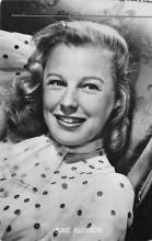 act_001043 - June Allyson Post Card Actress, Movie Star, Postcard