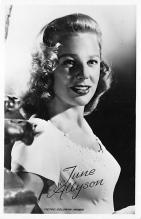 act_001075 - June Allyson Movie Actor / Actress, Entertainment Postcard Post Card