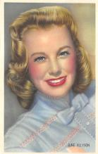 act_001077 - June Allyson Movie Actor / Actress, Entertainment Postcard Post Card