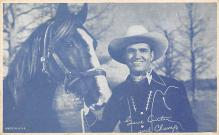 act_001083 - Gene Autry & Champ Movie Actor / Actress Postcard