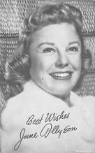 act_001084 - June Allyson Movie Actor / Actress, Entertainment Postcard Post Card