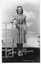 act_001089 - June Allyson Movie Actress, Entertainment Postcard Post Card