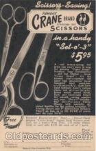 adv000001 - Crane Brand Scissors Advertising Postcard Post Card