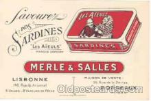 adv001155 - Sardines, Advertising Postcard Post Card
