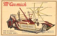 adv001169 - McCormick Tractors Advertising Postcard Post Card