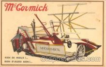 adv001274 - McCormick Tractors Advertising Postcard Post Card