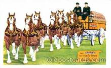 adv001317 - Wilson & Co. The six horse hitch of Clydesdales, Advertising Postcard Post Card