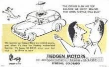 adv001366 - Tiedgen Motors, Sterling, Colorado, USA, Advertising Postcard Post Card