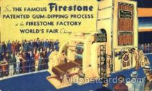 adv001393 - Firestone Factory, Worlds Fair Chicago, Ill USA, Advertising Postcard Post Card