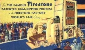 adv001393 - Firestone Factory, Worlds Fair Chicago, Ill USA, Advertising Postcard Post Card