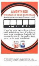adv001423 - Texaco Motor Oils, Advertising Postcard Post Card