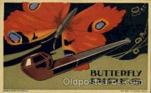 adv001458 - Butterfly Pipes Advertising Postcard Post Card