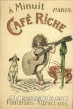 adv001472 - Café Riche Advertising Postcard Post Card