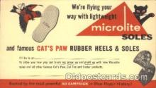 adv001476 - Microlite Soles Advertising Postcard Post Card