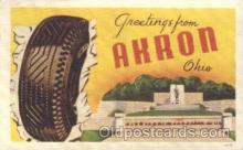 adv001504 - Rubber Manufacturing, Akron Ohio, USA Advertising Postcard Post Card